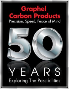 Graphel Carbon Products 50th Anniversary Logo