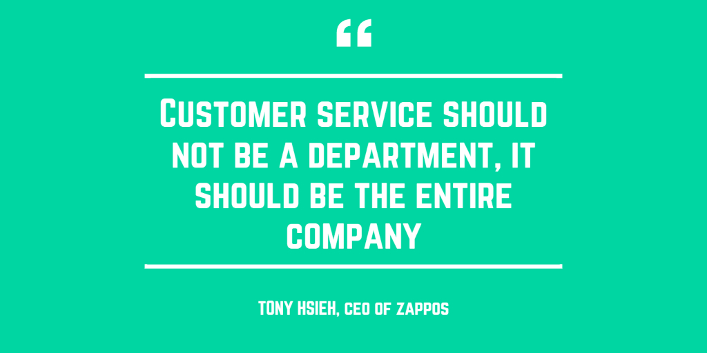 Customer Service is important in all departments.